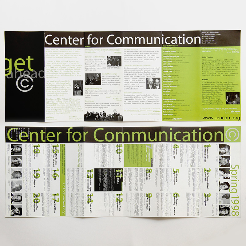 Center for Communication Spring 1998 calendar