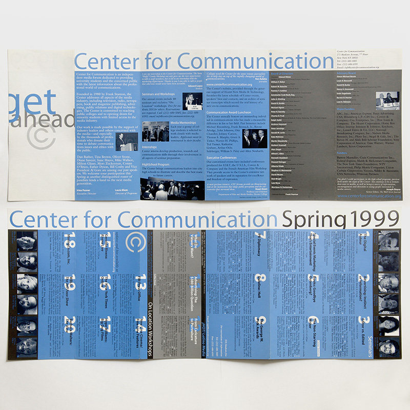 Center for Communication Spring 1999 calendar